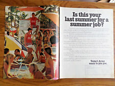 1972 Army Recruiting Ad Is this Your Last Summer for a Summer Job?