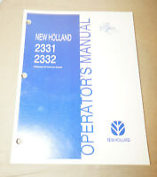 2001 New Holland Models 2331 & 2332 Operator's Manual P/N 86630294