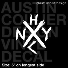 "5"" NEW YORK HARD CORE vinyl decal car truck laptop sticker - nyhc hardcore music"