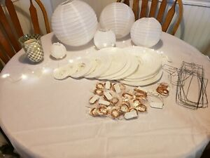 wedding decorations lot used pink/white/rustic/vintage