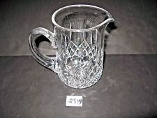 Waterford 6 1/2 inch Crystal Pitcher    1