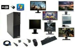 ORDINATEUR PC FIXE COMPLET LENOVO M71E i5 WIFI HDD SSD WINDOWS 7 4GO/8GO/16GO