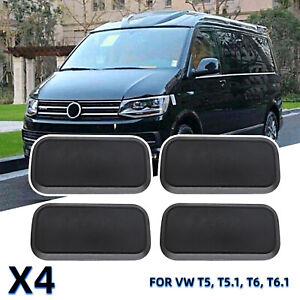 For VW T5 T5.1 T6 T6.1 Kombi Transporter 2013+ Seat Base Caps cover 4Pcs/Set