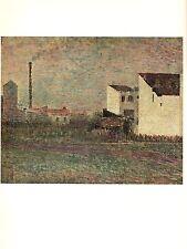 "GRANDE JATTE/"" COLOR offset Lithograph 1968 Vintage SEURAT /""LADY WITH A MONKEY"