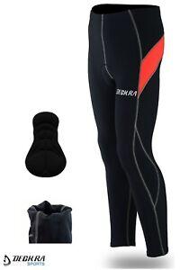 Mens Cycling Trouser Long Pants Thermal Padded Bicycling Bike Winter Tights