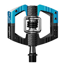 Crank Brothers Mallet E LS (Long Spindle) Pedals Enduro Ride & Race, Black/Blue