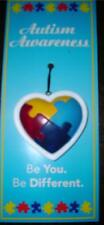 Autism Awareness Resin Puzzle Heart Ornament use as Magnet Photo Tree Car Gift
