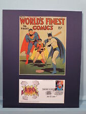 DC Heroes Superman, Batman & Robin & First Day Cover of the Superman Stamp