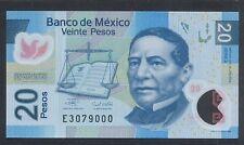 2006 Mexico 20 Pesos, Serie A - Polymer Note, UNC