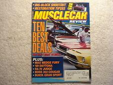 Muscle Car Review 1991 October Boss 302 Cougar, Buick GS, GTO Judge, Fury Max