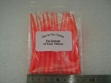 B37. 10 Silicone Flo Orange Tube V Cut Flying C Bodies Spinners Lure Body Parts