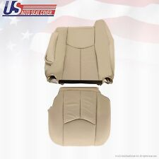 2003 2004 Cadillac Escalade Driver Bottom & Lean Back Leather Seat Covers Tan