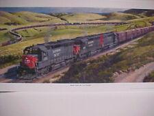 "C2008 Railroad Art,Winfield,/""SP-SD-45X in Verdi Canyon/"" 12X24/""signed 7311"