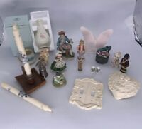 HUGE Lot of Vintage Collectable Items Angel Box, Figurines ,Candle ,Bell , Vase
