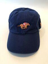 Kentucky Derby Needlepoint Adjustable Hat - Navy