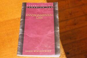 Essentials of Canadian Environmental Law in Canada Jamie Benidickson 1552210103