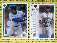 KEN GRIFFEY JR, Seattle Mariners, 1991 Upper Deck 5-Card Lot #555, HIGH GRADE