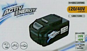 ACTIV ENERGY 20/40V LI-ION Akku passend für 20V und 40V Geräte von FERREX / NEU!
