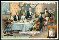 Modern Elegant Formal 1900 Banquet Dining Halll  c1903 Trade Ad  Card
