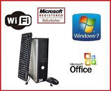 DELL DUAL CORE 2 DUO 3.0GHz SFF DESKTOP PC 8GB 1TB WINDOWS 7 WiFi + MS OFFICE!