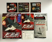 F-22 Lightning II PC Game CDROM - Big Box Combat Flight Simulation Vtg Novalogic