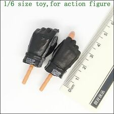 XB74-11 1/6 Scale HOT Male Black Glove Hands TOYS SOLDIER STORY
