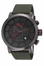 NEW PUMA PU103521003 MENS POPULAR GREEN STRAP WATCH - 2 YEAR WARRANTY
