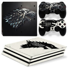 PS4 Pro - GOT Stark -  Protective Skin Stickers Console & 2 Controllers - 0871