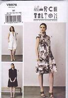 Vogue Sewing Pattern Misses' March Tilton Loosing Fitting Dress 8 - 24 V8876