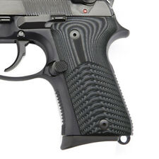 Beretta 92 96 G10 Grips Compact Size Slim Wave Texture Grey Black B92C-7-5