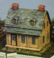 """Farm House Village Building 6"""" x 5"""" x 6"""" Ceramic Bisque, Ready To Paint"""