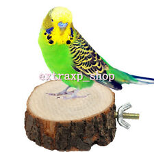 Parrot Pet Bird Chew Toy Wooden Hanging Swing Birdcage Parakeet Cockatiel Cages