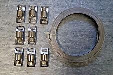 3 x 3 m Endlos Schlauchschellen Band + 24 Klemme Schlauchklemme Schlauchschelle