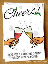 Funny Christmas Card Husband Wife Boyfriend Girlfriend Partner Killing Joke Fun