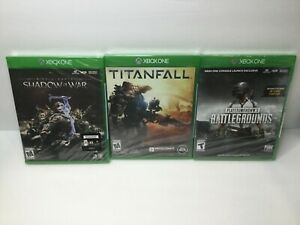 Titanfall, Shadows Of War,  PUBG Xbox One New Factory Sealed 3 Game Lot