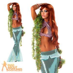 Adult Ladies Mesmerizing Mermaid Costume Sexy Ariel Womens Fancy Dress Outfit