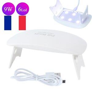 9W mini LED Lampe UV Vernis À Ongles Sèche Séchage Gel Durcissement Nail Art