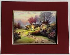 Thomas Kinkade Good Shepherd's Cottage – 11″ x 14″ Matted Print with CoA F182551