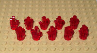 Lego Transparent Red Sparkling Rock 1x1 Crystal x 10 - New