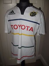 Munster Rugby Shirt Large - WHITE - TOYOTA - IRELAND IRISH PROVISIONAL JERSEY