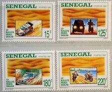 SENEGAL 1991 1112-15 910-13 Paris Dakar Rally Cars Autos Motorrad Motorbike MNH