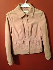 Cherokee Women's Sz. Small Salmon Suede Leather Sports Jacket Blazer