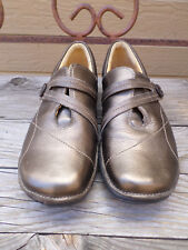 Clarks Artisan Unstructured Bronze Leather Loafers Women's 8 M