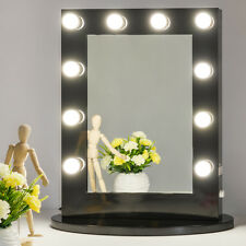 Black Hollywood Makeup Vanity Mirror with Light Dimmer Stage Beauty Mirror
