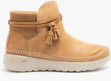 Skechers ON-THE-GO JOY Ladies Womens Winter Warm Suede Ankle Boots Chestnut