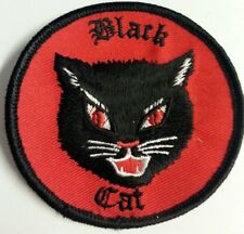 "~ BLACK PANTHER~ original FIREWORKS BLACK CAT IRON ON JACKET PATCH ""PZZZT!""MEOW!"