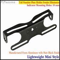 Universal Motorcross Tail Number Plate Holder Fender Eliminator Tail Tidy Black