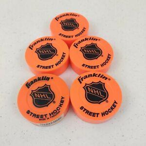 5-Franklin Sports NHL Street Roller Hockey Pucks