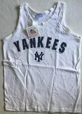NY Yankees White Tank Top Medium Cotton Official MLB Merchandise New with Tags