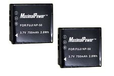 BATTERY x 2 for Pentax D-LI68 D-LI122 Q Q7 Q10 Optio A36  Camera TWO BATTERIES